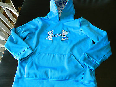 Youth size Large- Under Armour Hoodie- Blue & White- Large Logo Hoodie