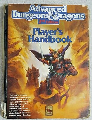 Player's Handbook Advanced Dungeons & Dragons 2nd Edition TSR 2101