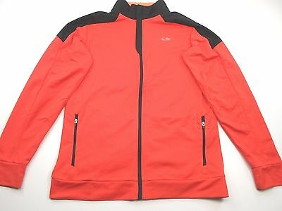 CHAMPION Youth/Boys Size XL 16-18 Red/Black Full Zip Athletic Duo Dry Sweat Top
