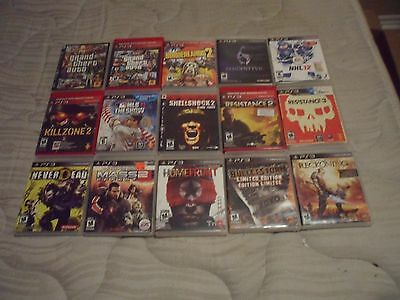 Playstation Three (3) Game Lot Of 15