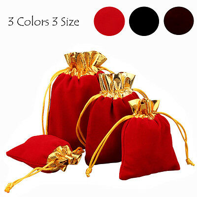 10/30/50pcs Wedding Party Favour Gift Bags Drawstring Jewellery Pouch Candy AU