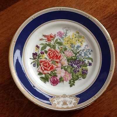 Royal Doulton Collectors Plate ROYAL WEDDING BOUQUET Charles and Diana 1981