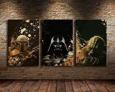Movie Poster Canvas Picture Print Home Decor Art Painting Star Wars 3pcs