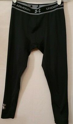 UNDER ARMOUR Youth's Black FITTED Athletic Tights Medium(#15d)