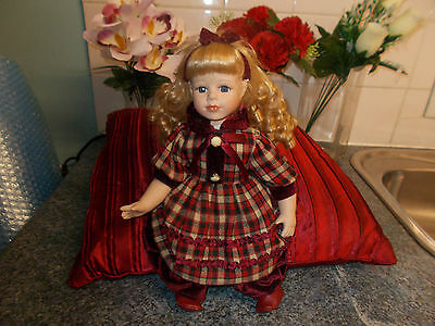 Olive Homeart Sitting Or Put On Stand Porcelain Doll.