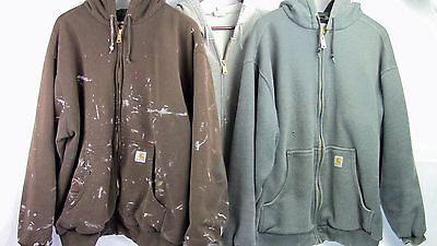 3 Carhartt XL Hoodies - 1 Mid-Weight & 2 Thermal-Lined Zip-Front Sweatshirts