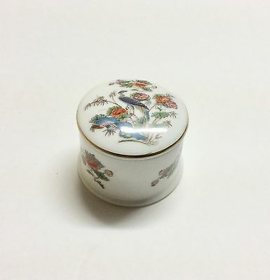 Vintage Small Round Wedgewood ChIna Covered Trinket Box