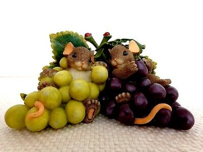 """Fitz & Floyd Charming Tails """"I'm So Grape-Ful For You"""" Item : 89/170"""