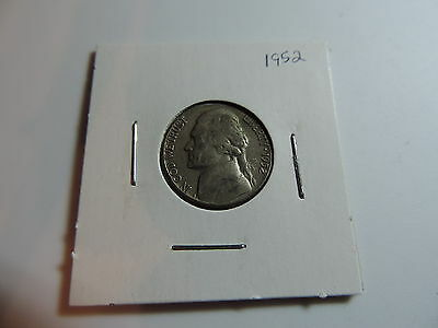 1952 US American Nickel coin A590