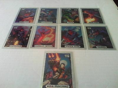 Marvel Masterpieces 1994 Limited Edition Holofoil Trading Cards x9