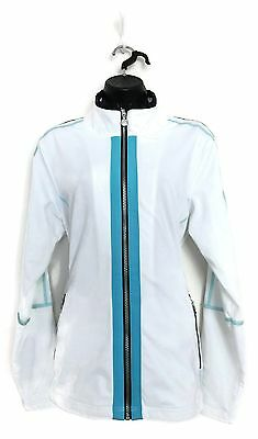 DAILY SPORTS Women's Golf Jacket (White/Blue) - X-Large