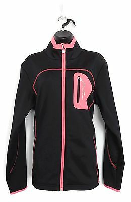 DAILY SPORTS Women's Golf Tracy Wind Jacket (Black/Pink) - X-Large