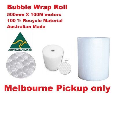 NEW Packaging Bubble Wrap 500mm x 100m -  Size 10mm Melbourne Metro Pickup