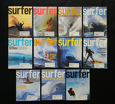 Surfer Magazine 2003 Used Lot Of 11 Issues Vol.44  Surf Surfing Hawaii