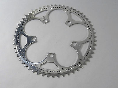"""Zeus Chainring 56T Road 3/32"""" 119 Bcd Drilled Vintage Racing Bicycle Road NOS"""