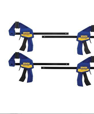 IRWIN QUICK-GRIP 4-Pack 6-in Woodworking Clamps, Easy Securing for Wood Work