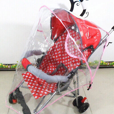 New Stroller Rain Cover Baby Infant Pram Pushchair Windproof Clear Dust Shield