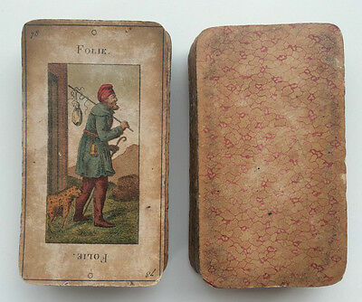 c.1885 Tarot Deck Grand Etteilla 78 Cards Paris RARE Complete Very Old Well Used