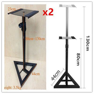 x2 Heavy Duty professional Monitor speaker stand Height adjustable