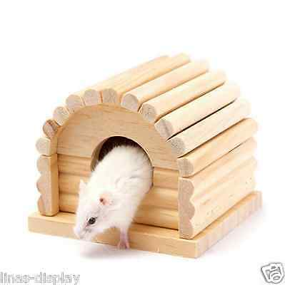 Hamster log cabin Natural Solid Wood Single Villa Toy House Squirrel Totoro Cage