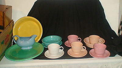 Homer Laughlin Fiesta Ware 15 Piece Vintage Set  1936 - 1988...?