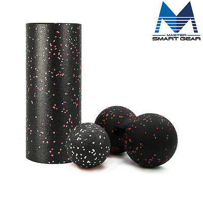 High Density Foam Roller Massage Ball Combo YOGA PILATE THERAPY Trigger Massage