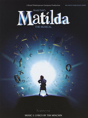 Matilda The Musical Big Note Piano Selections Sheet Music Book