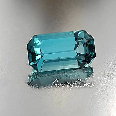 Tourmaline Indicolite Loose Gemstone Natural 1.5 Ct Precision Cut By AveryGems