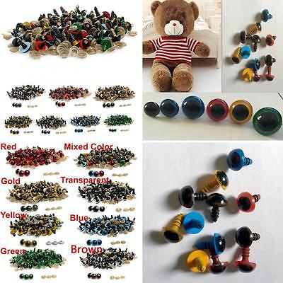 100 Pcs 8-20Mm Safety Eyes For Teddy Bear Doll Animal Puppet Craft Diy Glaring