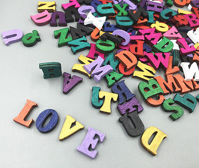 DIY 100pcs Wooden Embellishments Letters scrapbooking Crafts Random Mixed15mm