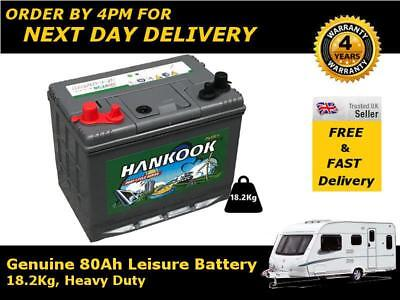 80Ah Leisure / Caravan Battery Deep Cycle DC24 12V - Charged and Ready To Go