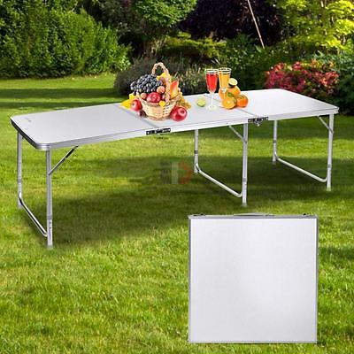 6' Folding Table Portable Aluminium Alloy Indoor Picnic Party Dining Camp Tables