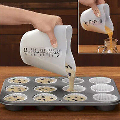 500ml Love Heart Stir Pour Measuring Cup Heatproof Kitchen Baking Tool Flowery