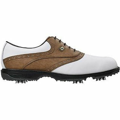 FootJoy Mens Hydrolite Golf Shoes #50022 - White / Taupe - UK 10.5 M 2015