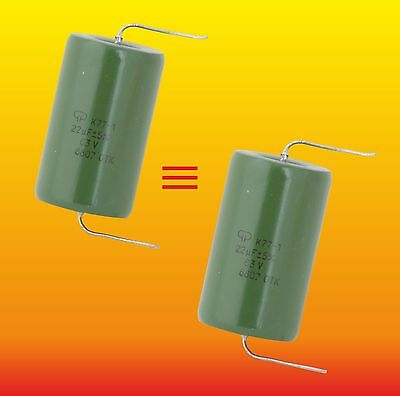 22 uF 63 V MATCHED RUSSIAN POLYCARBONATE AUDIO CAPACITORS K77-1