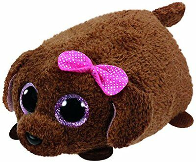 Ty Beanies Babies 42215 Teeny Tys Maggie the Brown Dog