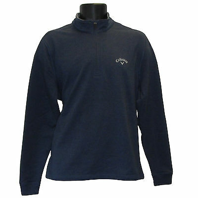 Callaway Golf Mens 1/4 Zip Long Sleeve Sweater / Navy / Large