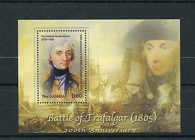 Gambia 2005 MNH Battle of Trafalgar 200th 1v S/S Horatio Nelson Ships Stamps