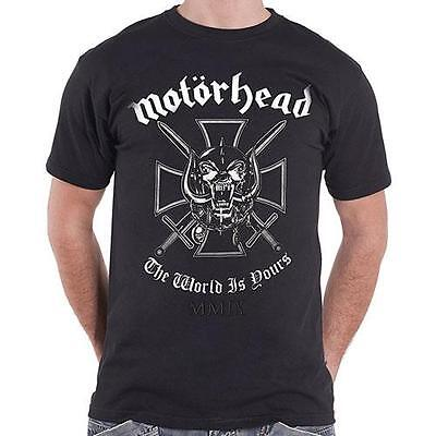 Motorhead - The World Is Yours Short Sleeve Mens Cotton T-Shirt - New & Official