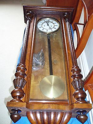 Antique Chiming Wall Clock Double Weighted