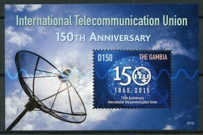Gambia 2015 MNH Int Telecommunication Union ITU 150th Anniv 1v S/S Stamps