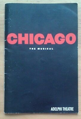 Chicago programme Adelphi Theatre March 1998 ed. Ruthie Henshall Ute Lemper