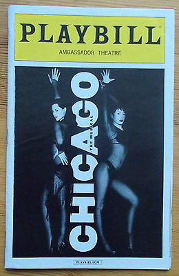Chicago The Musical Broadway Playbill & ticket Ambassador Theatre October 2014