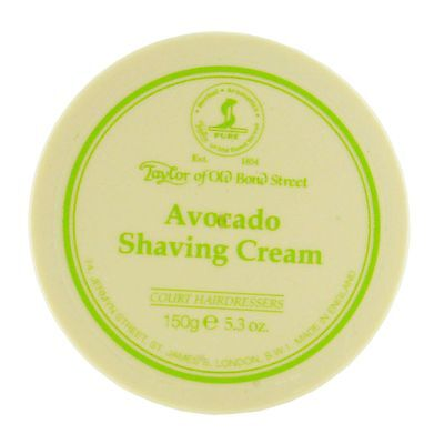 Avocado Luxury Shaving Cream Tub 150g, Taylor of Old Bond St