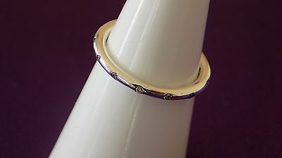 Pandora Droplets Sterling Silver Ring.Size 50  S925 ALE