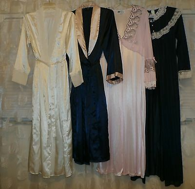 Lot Of 4 Vintage Peignoir/robes--Small/med.