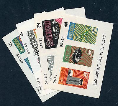 MEXICO 1968 Olympic Games MSs um/MNH. SG MS1177 and 1183. Cat £71.