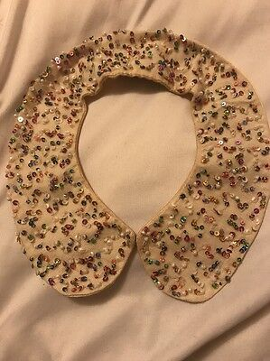 H And M Petter Pan Collar Necklace Multi- Colored Sparkles