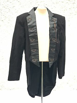 Steampunk Black & Copper Keyhole Penguin Tail Jacket OnlyIn Chest Size 44 Inches