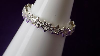 Pandora Star Shine Sterling Silver Ring. Size 52   S925 ALE